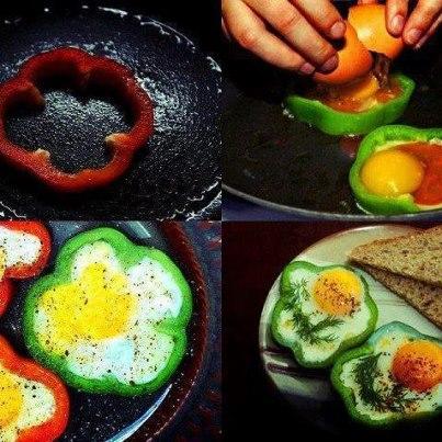 ovo no pimentão